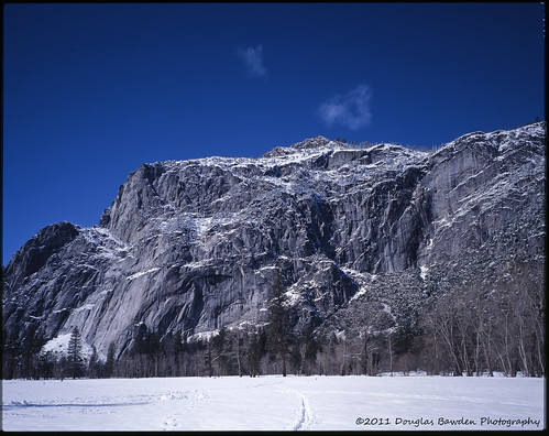 Yosemite Winter Storm - A Touch of Clouds - Large Format Film