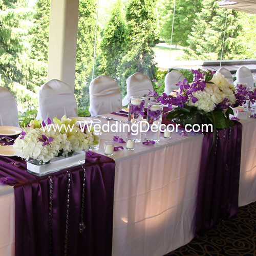 Head Table Decorations For Wedding Reception Purple White Flickr Photo