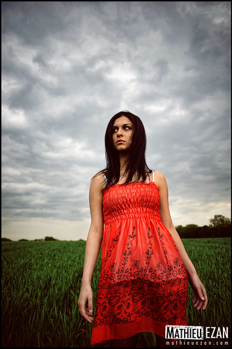 red portrait sky woman nature colors girl grass landscape lost photography eyes nikon pretty photographer girly wideangle jolie fille cuty grandangle d700 mathieuezan