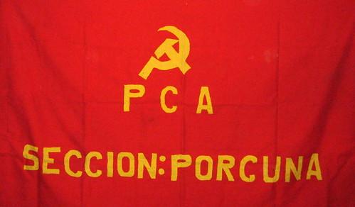 Bandera del Partido Comunista de Porcuna. Año 1977