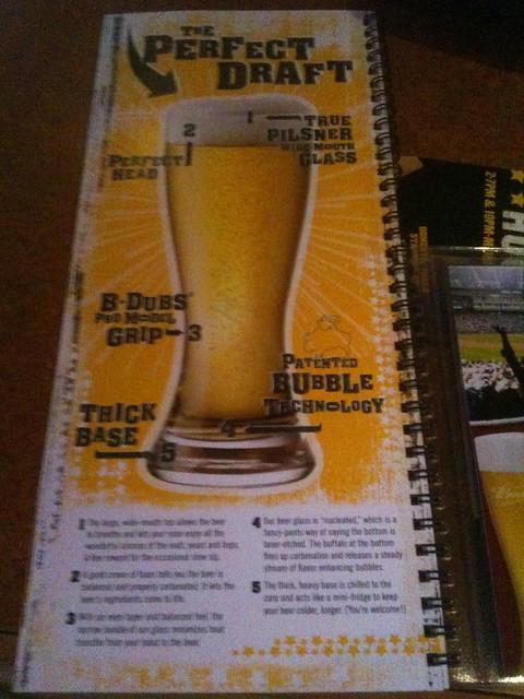 Buffalo Wild Wings Draft Beer Menu Insert | Flickr - Photo Sharing!