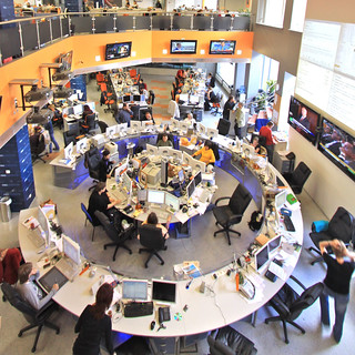 Newsroom von RIA Novosti in Moskau