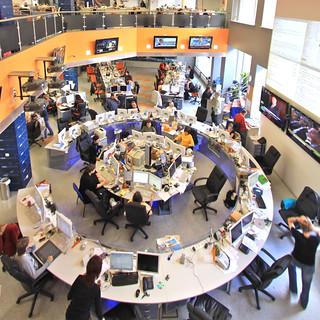 Newsroom von RIA Novosti in Moskau
