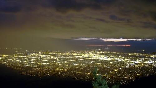 city trip travel usa storm newmexico night photography lights kodak albuquerque citylights nm sandiapeak pointofinterest