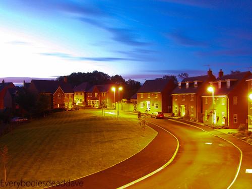 longexposure blue houses homes sky sunrise leicestershire kirbymuxloe 10millionphotos perfectsunsetssunrisesandskys