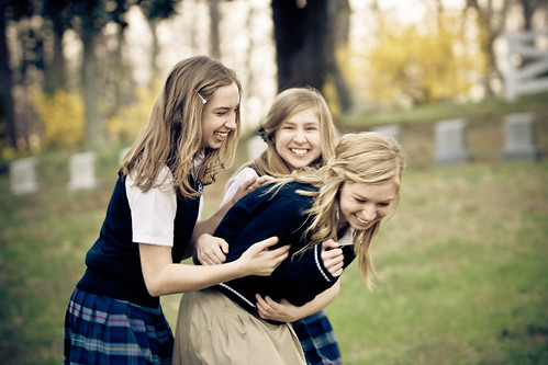 blue school girls sunset portrait beautiful smile face laughing hair fun evening eyes catholic sony maryland skirt highschool blonde alpha middleschool unifrom mattingly leonardtown 2011 dslra700 gregoryhughdavidson ghdphotographydesign