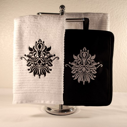 Damask Towel/Pot Holder