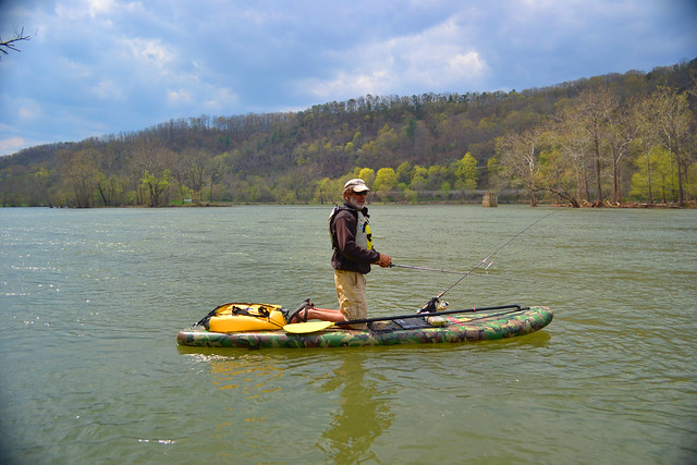 Stand up paddleboard fishing on the stride airlite bc for Stand up fishing kayak