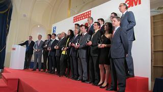 Algunos de los premiados