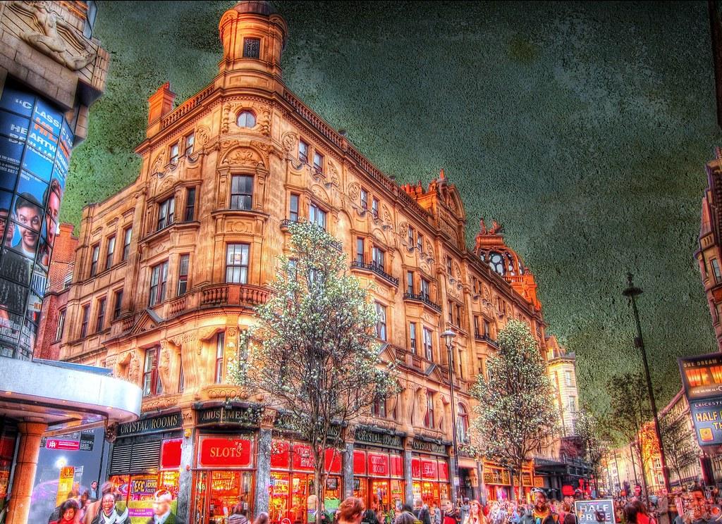 London's West End . the entertainment district . HDR