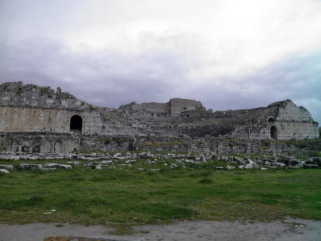 Hellenistic/Roman Theatre, built in the 2nd century BC (ca. 250-225), with a capacity of 14,800/18,500, Miletus