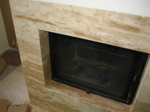 Travertine Slab Fireplace Facade Flickr Photo Sharing