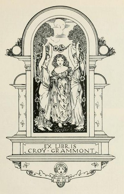Bookplate of Croy-Grammont