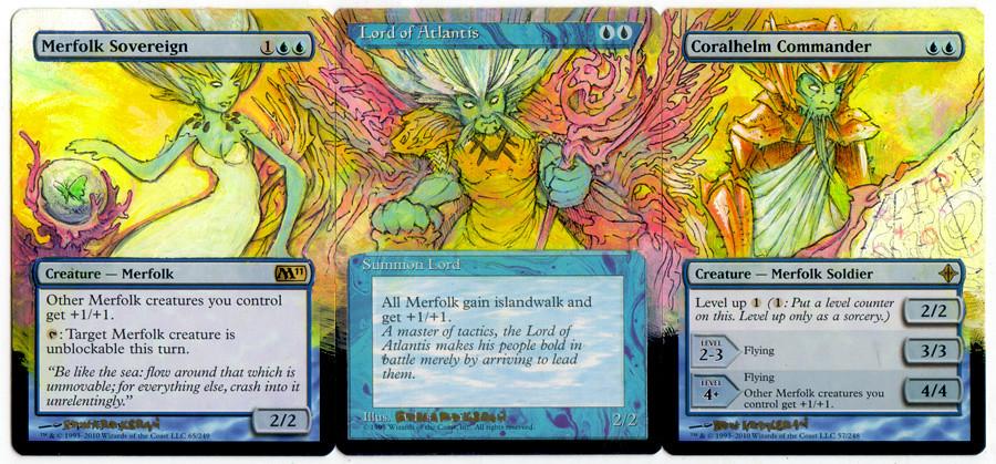merfolk sovereign, lord of atlantis, coralhelm commander