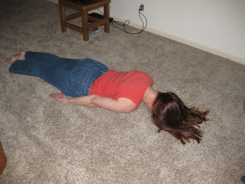 Sheree Planking on the new carpet