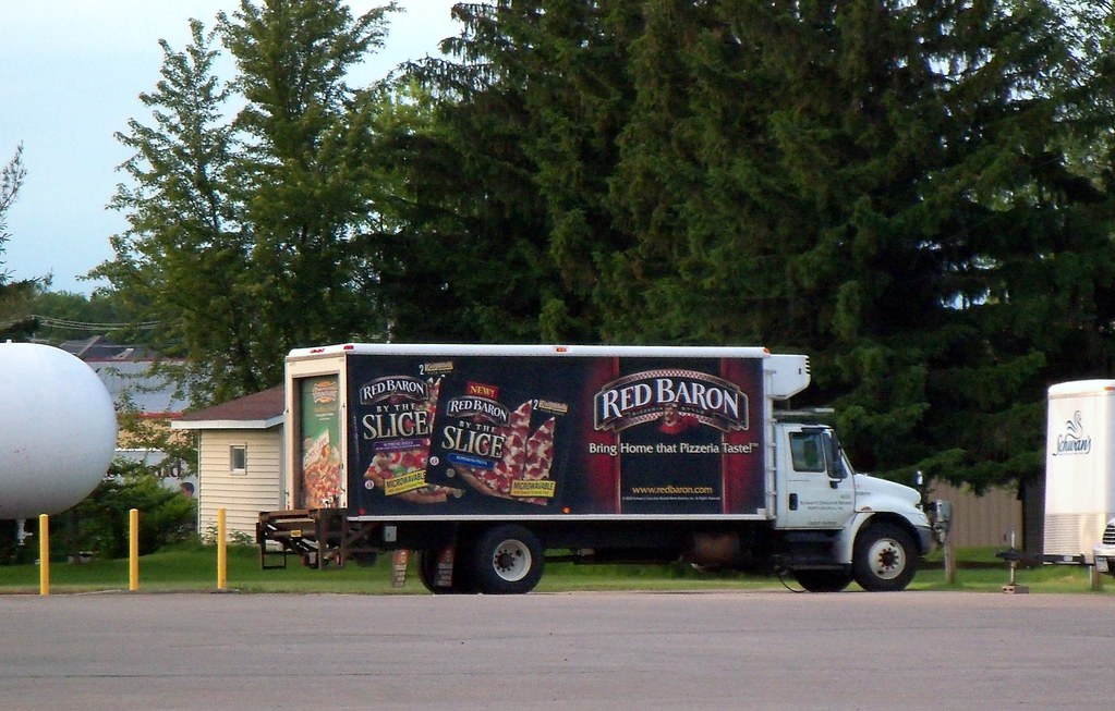 Refrigerated Red Baron Pizza Truck Mark Flickr