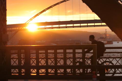 Sunset on Broadway Bridge-1