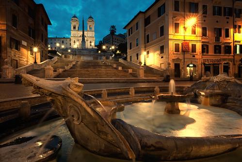 plaza italy rome sunrise steps spanish spanishsteps piazzadespagna
