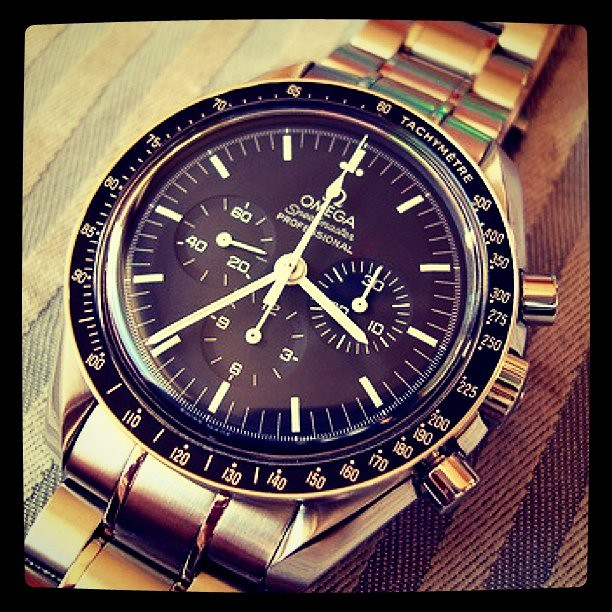 #Omega #Speedmaster Professional. First watch worn on the ...