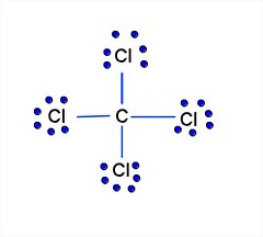 how many lone pairs of electrons are in ccl4