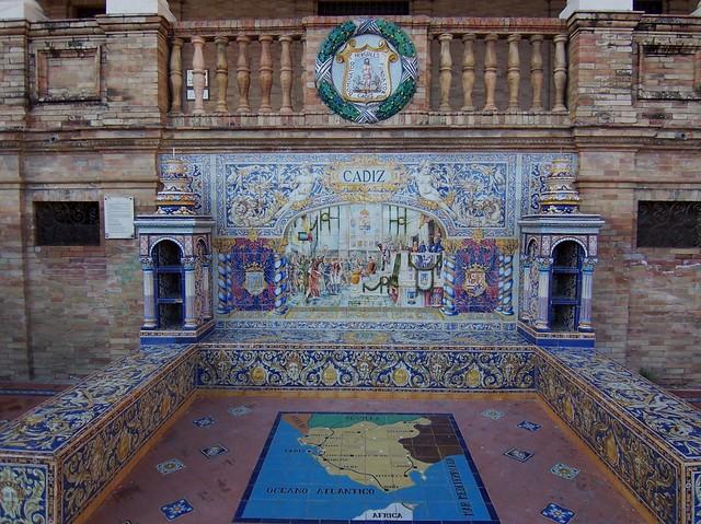 Azulejos de la provincia de c diz plaza de espa a sevilla for Azulejos cadiz