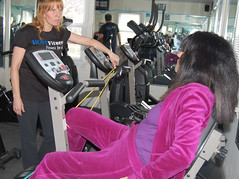 Suzanne Welsh and Anastasia Papadopoulos at HOPEFitness in North Bellmore, N.Y.