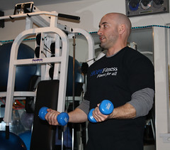 Robert Kagen teaches a class at HOPEFitness in North Bellmore, N.Y.