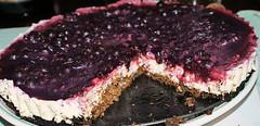blackberry(0.0), berry(0.0), blueberry pie(0.0), chocolate cake(0.0), plant(0.0), flourless chocolate cake(0.0), produce(0.0), fruit(0.0), chocolate brownie(0.0), torte(0.0), cake(1.0), baking(1.0), blackberry pie(1.0), baked goods(1.0), food(1.0), dish(1.0), cheesecake(1.0), dessert(1.0),