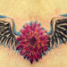 flower with wings tattoo