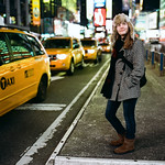 Lauren in Times Square