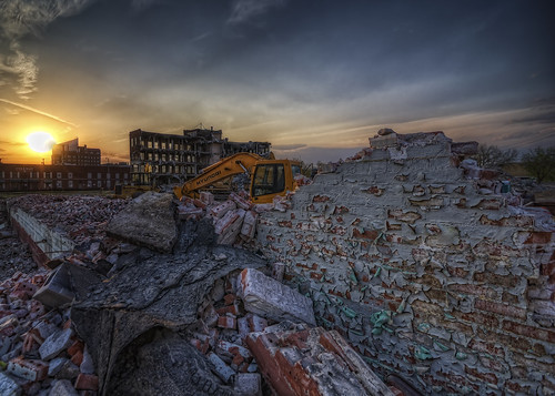 sunset nikon demolition kansas coleman peelingpaint oldtown wichita hdr photomatix sedgwickcounty d300s