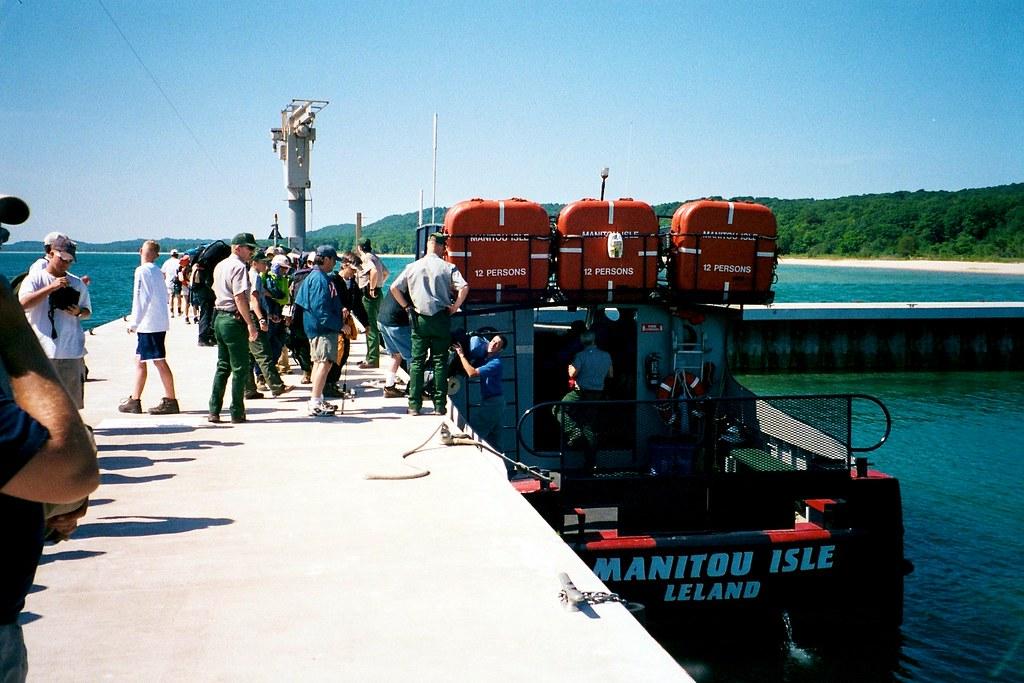 Ferry To Manitou Island Lake Superior