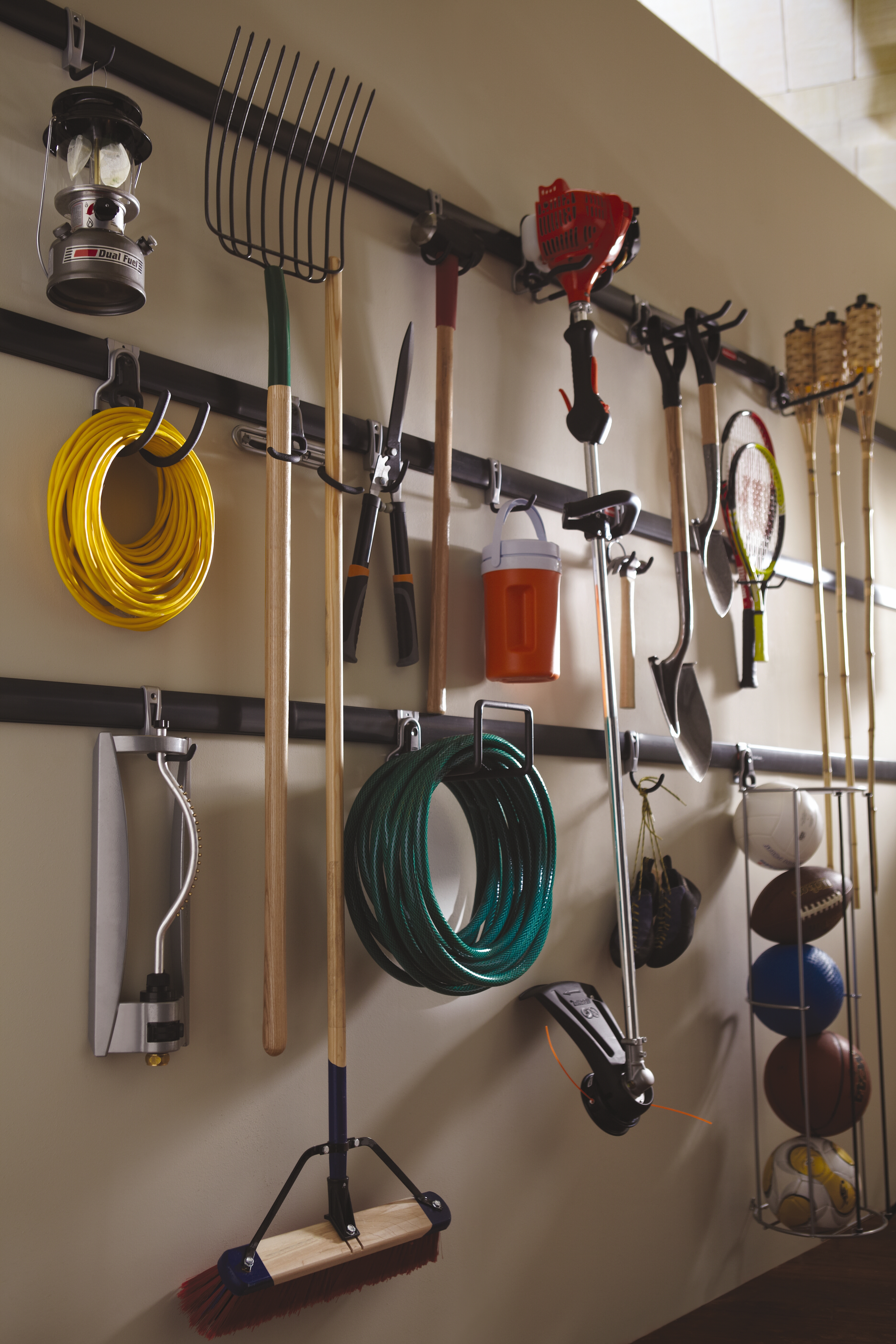 rubbermaid fasttrack garage organization system flickr