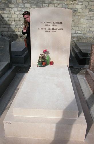 graf J. P. Sartre + S. Beauvoir