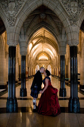 Jeff and Erin at Parliament Hill - Hallway to Library