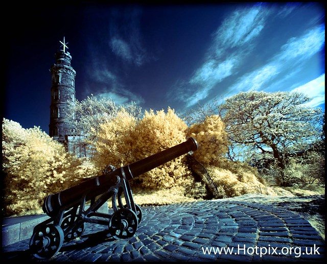 The Canon, Calton Hill, Edinburgh Scotland Colour Infra Red