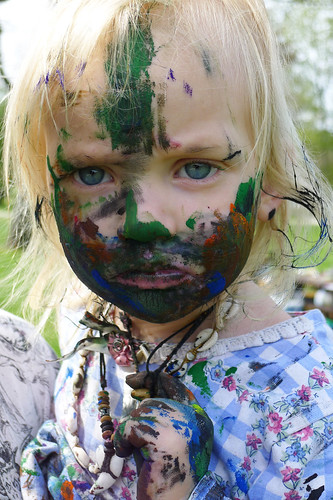 face painting with all the paint III by L.E. Erickson