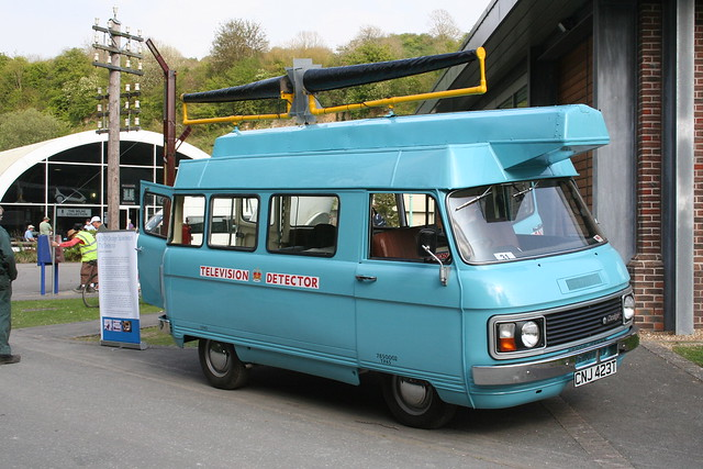 CNJ 423T a preserved 1977 Dodge Spacevan TV detector van
