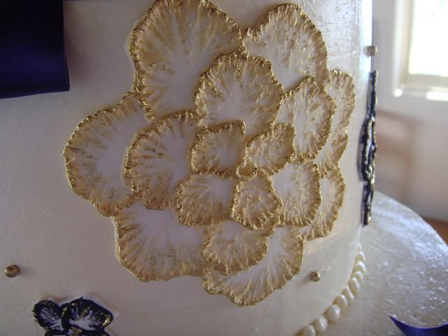 Brushed Embroidery Wedding Cake  Flickr  Photo Sharing
