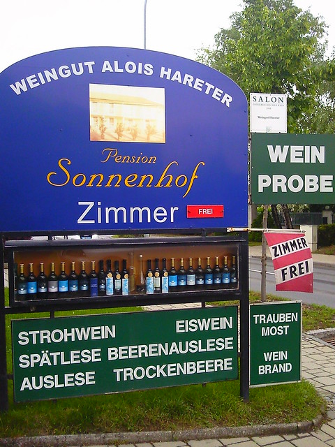 Local wine producers sign in Burgenland Austria
