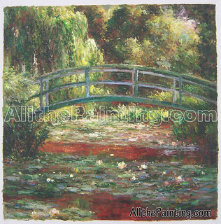 Oil painting reproduction, Bridge Over a Pond of Water Lilies, Claude Monet