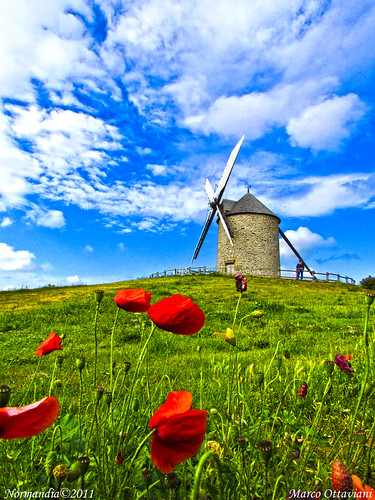 "france windmill colors canon moulin 1001nights colori normandy francia shining montstmichel normandia papaveri poppys coquelicots mulinoavento colorphotoaward panoramafotográfico ""flickraward"" ""flickraward5"" mygearandme marcoottaviani ringexcellence"