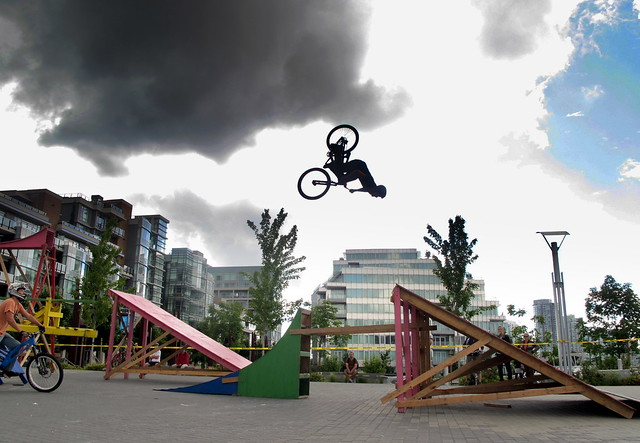 Flipping in the Olympic Village