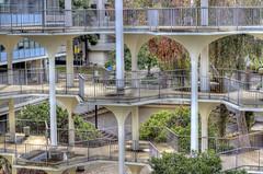 courtyard, window, handrail, architecture, urban area, facade, balcony,