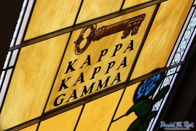 Kappa Kappa Kamma, along with Pi Beta Phi, was founded at Monmouth College. The names of both fraternities appear in the stained glass windows of the college's Dahl Chapel.