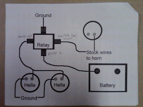 hella wiring diagram | flickr - photo sharing! 4 wire trailer plug wire diagram which way is backup wire diagram hella horns