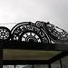 Bus stop ironwork: gears