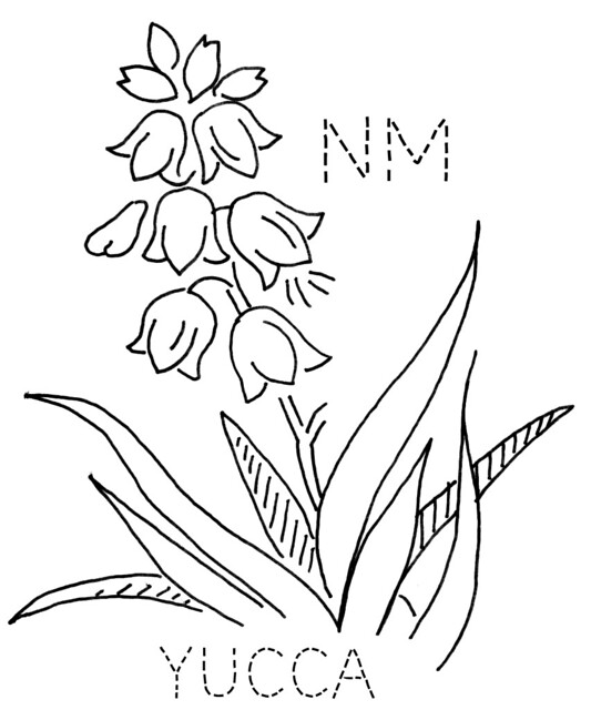 mexican flowers coloring pages - photo#36