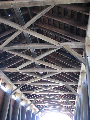 Trusses Inside Loy's Station Covered Bridge