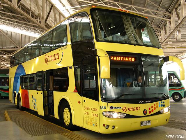 Buses Romani | Terminal San Borja | Marcopolo Paradiso 1800 DD / BDYD56